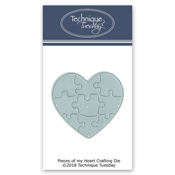 Technique Tuesday PIECES OF MY HEART Crafting DIY Steel Die 02634