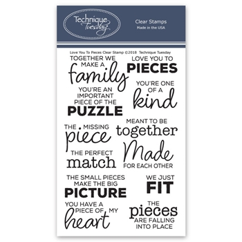 Technique Tuesday LOVE YOU TO PIECES Clear Stamps 02635