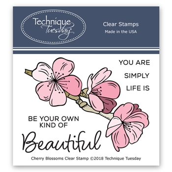 Technique Tuesday CHERRY BLOSSOM Clear Stamps 02561