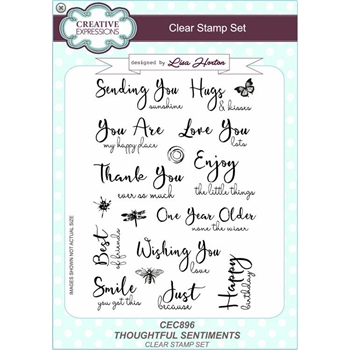 Creative Expression THOUGHTFUL SENTIMENTS Clear Stamps cec896