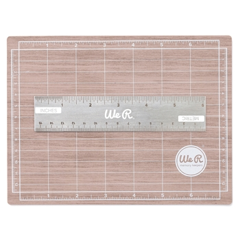 We R Memory Keepers MAGNETIC CUTTING MAT AND MINI RULER Tool 710929