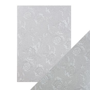 Tonic STEEL TOILE Luxury Embossed A4 Paper Pack 9820e