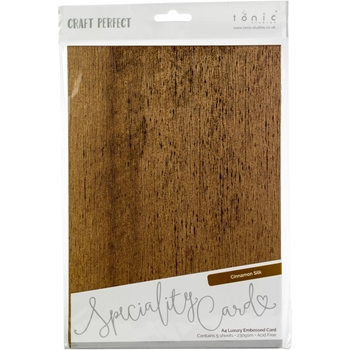 Tonic CINNAMON SILK Luxury Embossed A4 Paper Pack 9830e