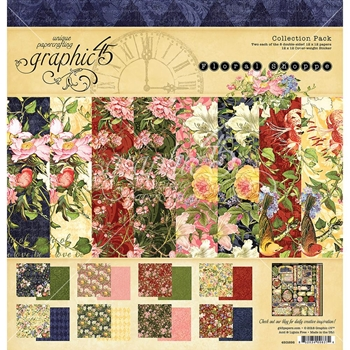 Graphic 45 FLORAL SHOPPE 12 x 12 Paper Pad 4501698