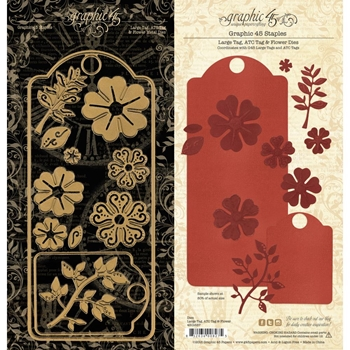 Graphic 45 LARGE TAG, ATC & FLOWER Staples Die 4501687