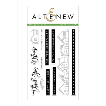 Altenew NEIGHBORHOOD Clear Stamp Set ALT2097