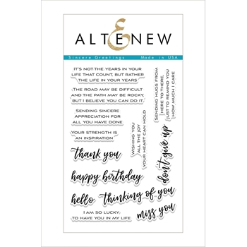 Altenew SINCERE GREETINGS Clear Stamp Set ALT2098