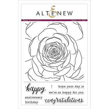 Altenew MEGA SUCCULENT Clear Stamp Set ALT2096