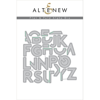 Altenew FLAT AND FOLD ALPHA DIE Set ALT2110