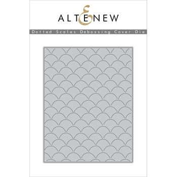 Altenew DOTTED SCALES DEBOSSING COVER Die ALT2109