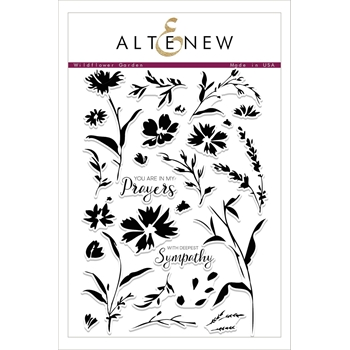 Altenew WILDFLOWER GARDEN Clear Stamp Set ALT2102