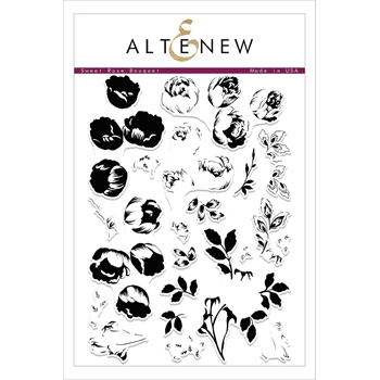 Altenew SWEET ROSE BOUQUET Clear Stamp Set ALT2099