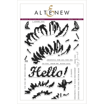 Altenew CROSS STITCH FLOWER Clear Stamp Set ALT2084