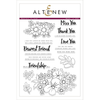 Altenew DEAREST FRIEND Clear Stamp Set ALT2087