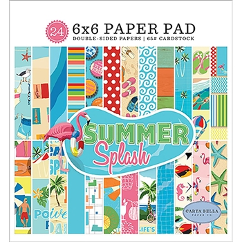 Carta Bella SUMMER SPLASH 6 x 6 Paper Pad cbspl83023