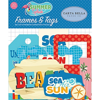 Carta Bella SUMMER SPLASH Ephemera cbspl83025