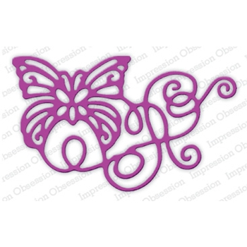 Impression Obsession Steel Die RIBBON BUTTERFLY DIE653-L