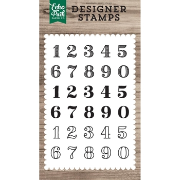 Echo Park CLASSIC NUMBERS Clear Stamps epstamp174