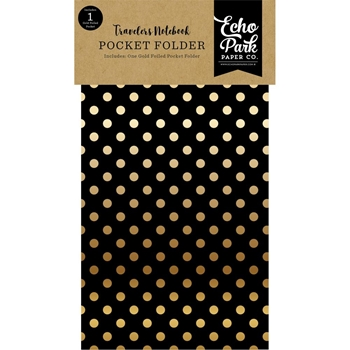 Echo Park COFFEE & FRIENDS POCKET FOLDER INSERT Travelers Notebook tno1004