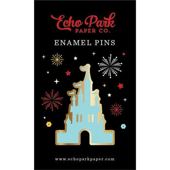 Echo Park MAGICAL CASTLE ENAMEL PIN Travelers Notebook tnw1005