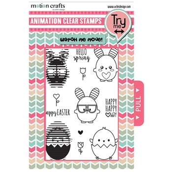 Uchi's Design SPRINGY Animation Clear Stamp and Die Set AS20