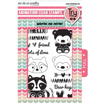Uchi's Design CRITTERS Animation Clear Stamp and Die Set AS13