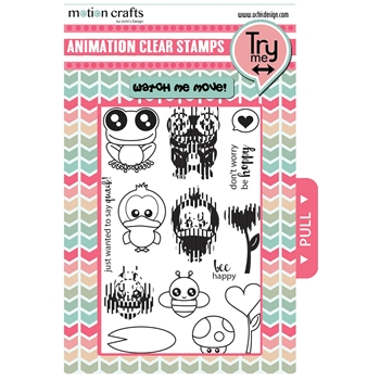 Uchi's Design BEE HAPPY Animation Clear Stamp and Die Set AS22