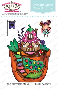 The Greeting Farm FAIRY GARDEN Clear Stamps TGF387