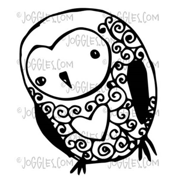 Joggles LITTLE OWL Cling Rubber Stamp 33669
