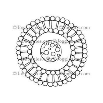 Joggles LARGE DOODLE CIRCLE Cling Rubber Stamp 33629