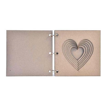 Joggles HEART 6x6 Tunnel Book 57113