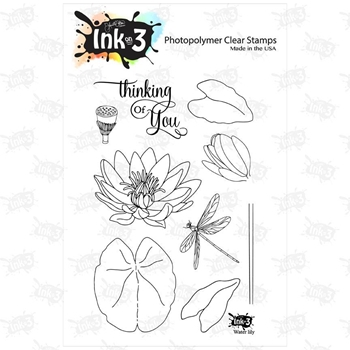 Inkon3 WATER LILY Clear Stamp Set 98728