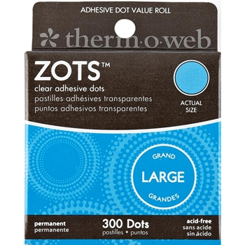 Therm O Web LARGE ZOTS Clear Permanent Adhesive Dot Value Roll 3783