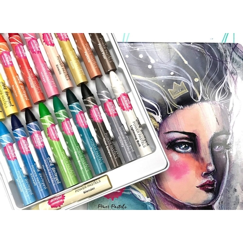 Jane Davenport POWER PASTELS Set with Tin Storage 320851 Preview Image