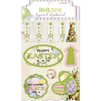 BoBunny COTTONTAIL Layered Chipboard 7310108