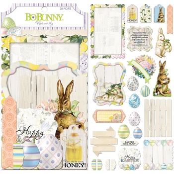 BoBunny COTTONTAIL Die Cuts Noteworthy 7310109