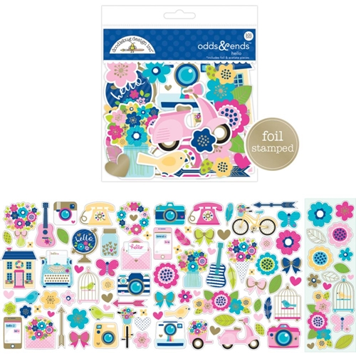 Doodlebug Design Hello Odds and Ends Die Cut Shapes