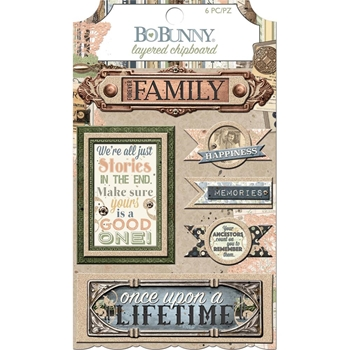 BoBunny ONCE UPON A LIFETIME Layered Chipboard 7310091