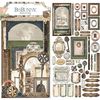 BoBunny ONCE UPON A LIFETIME Die Cuts Noteworthy 7310092