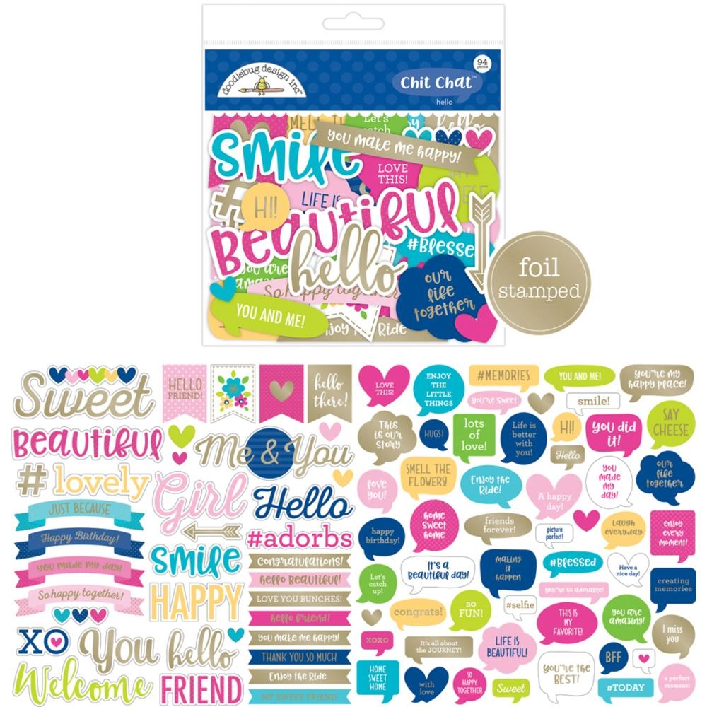Doodlebug HELLO Chit Chat Die Cut Shapes 5910 zoom image