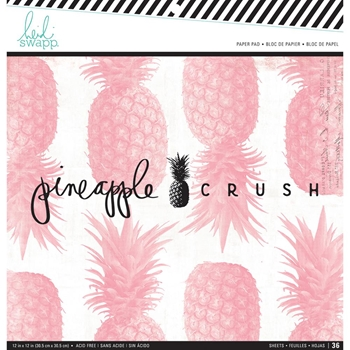 Heidi Swapp PINEAPPLE CRUSH 12 x 12 Paper Pad 314173
