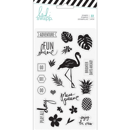 Heidi Swapp PINEAPPLE CRUSH Clear Stamps 314187 Preview Image
