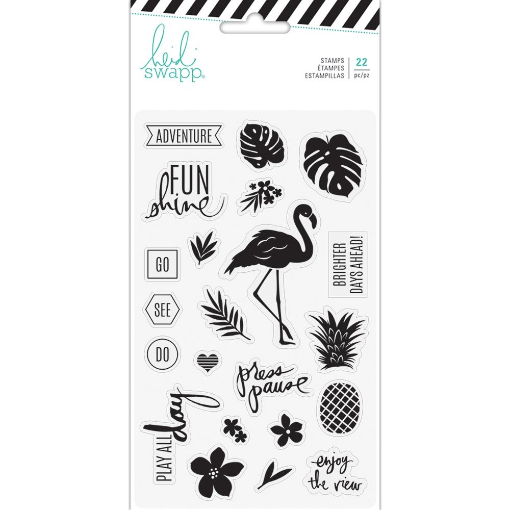 Heidi Swapp PINEAPPLE CRUSH Clear Stamps 314187 zoom image