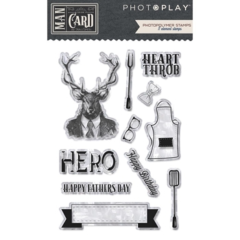PhotoPlay MAN CARD Clear Stamps mc8900