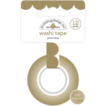 Doodlebug GOLD SCALLOP Washi Tape Hello 5892