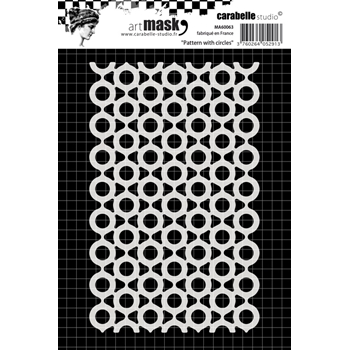 Carabelle Studio PATTERN WITH CIRCLES Mask Stencil ma60063