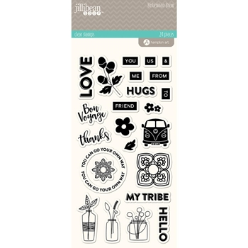 Jillibean Soup BOHEMIAN BREW Clear Stamp Set jb1554