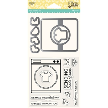 Jillibean Soup LAUNDRY Clear Stamp and Die Set jb1559
