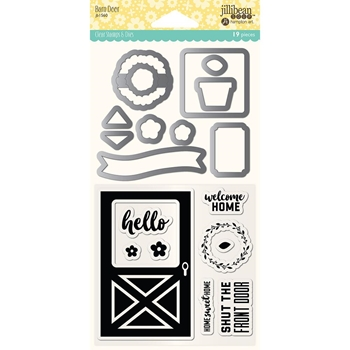 Jillibean Soup BARN DOOR Clear Stamp and Die Set jb1560
