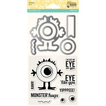 Jillibean Soup MONSTER Clear Stamp and Die Set jb1561